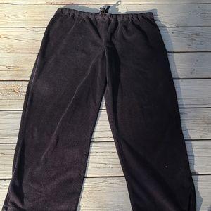Anne Klein black fleece pajama bottoms